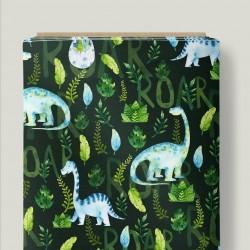 Dinosaurios fondo verde